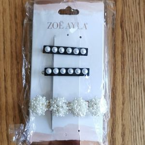 Add-on Only New Set of 3 Pearl Barrettes